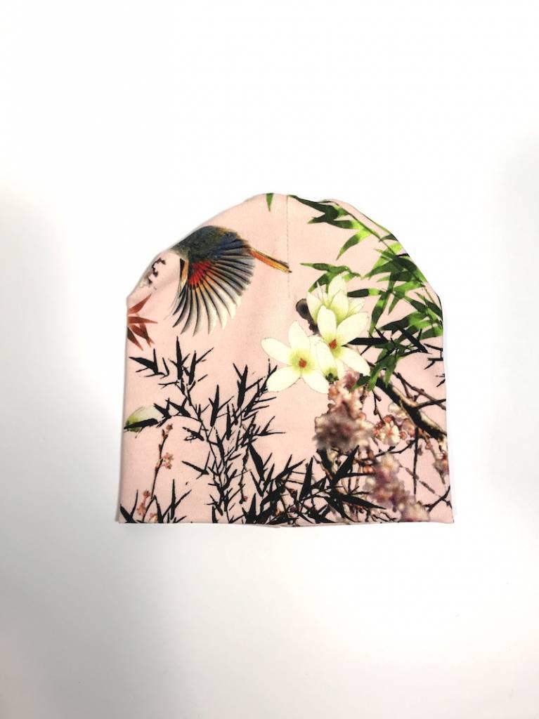tinymoon Bamboo Breeze pink / newborn beanie / mutsje