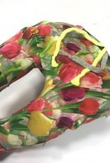 Baggy broekje drop crotch met tulpen