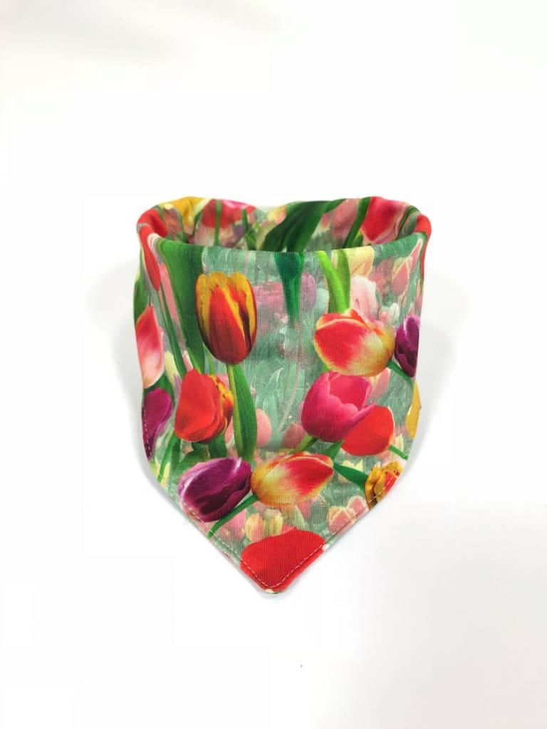 Slab bandana sjaal met tulpen