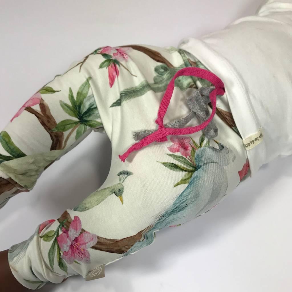 Meisjesbroekje baggy met mooie Japanse print
