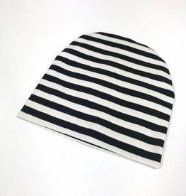 Muts - Newborn beanie - Zwartwit - Stripe