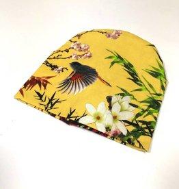 Bamboo Breeze yellow  / newborn beanie / mutsje