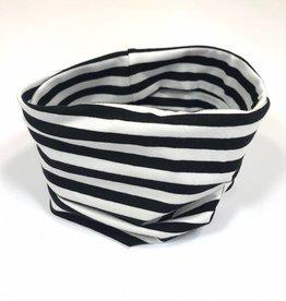 Stripe black-white / colsjaal