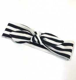 Stripe black-white / haarband strik