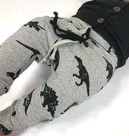Broek - Drop crotch - Zwart - Mino Dino