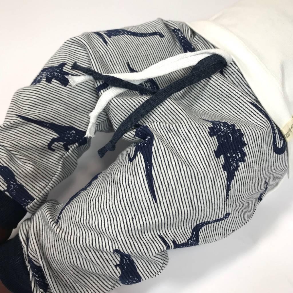 Harembroekje in navy blauw met dino's