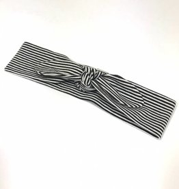 Fine Stripe black / haarband strik