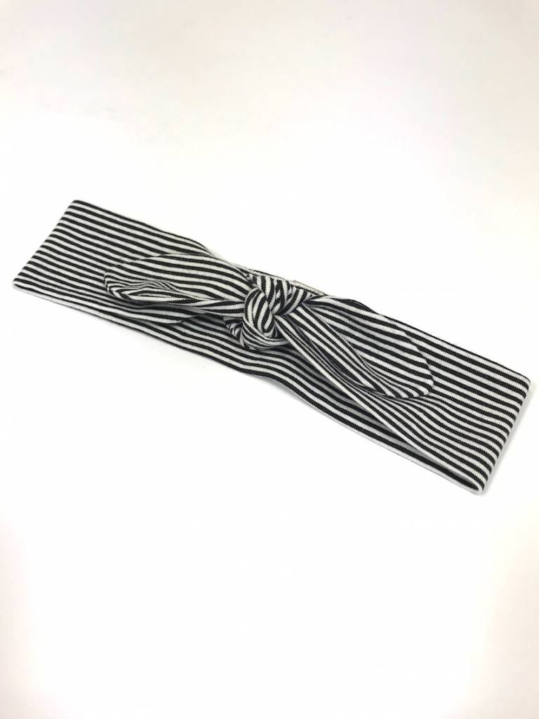 tinymoon Fine Stripe black / haarband strik
