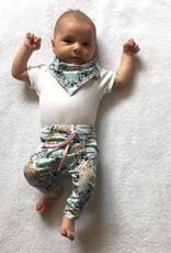 Meisjesbroekje baggy drop crotch met lace print