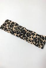 Haarband strik met luipaard print
