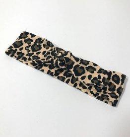 Haarband - Strik - Leopard bruin
