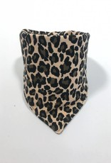 Bruine slab bandana met luipaardprint