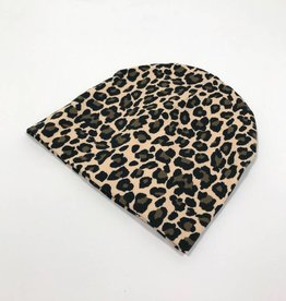 Lovely Leopard brown / newborn beanie / mutsje