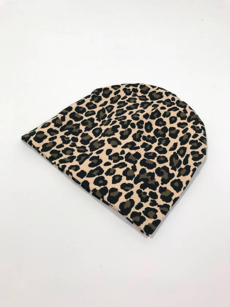tinymoon Lovely Leopard brown / newborn beanie / mutsje