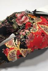 Warm baggy broekje bloemen en paisley print