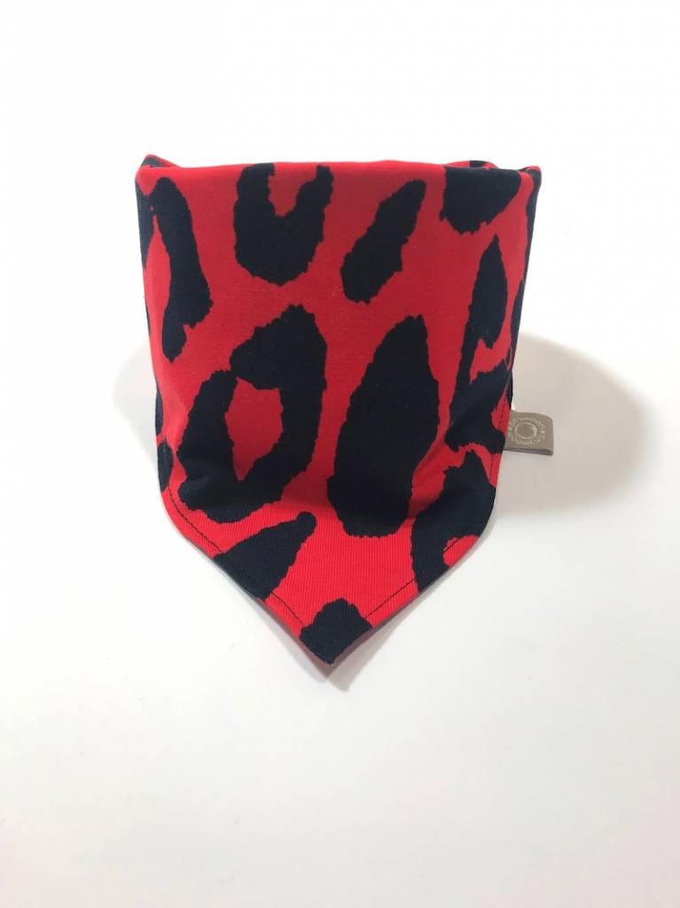 tinymoon Leopard Red / slab bandana sjaal