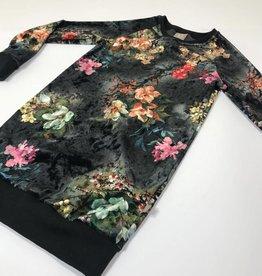 Jurk - Sweater dress - Zwart - Velvet Flowers