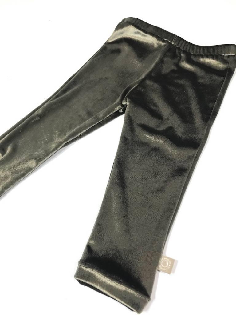 Velvet legging in khaki, hip voor elke dag!