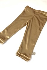 Legging voor meisjes in goudkleurig velvet
