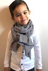 Grote zwart-witte XL sjaal voor lang plezier
