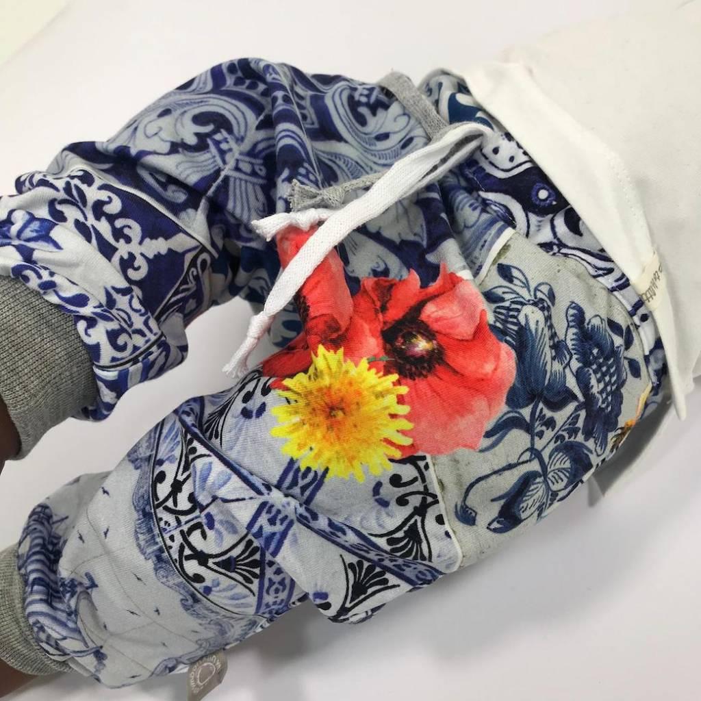 Harembroekje met Delfts Blauwe print