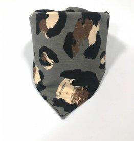 Sjaal - Slab bandana - Grijs - Leopard Large