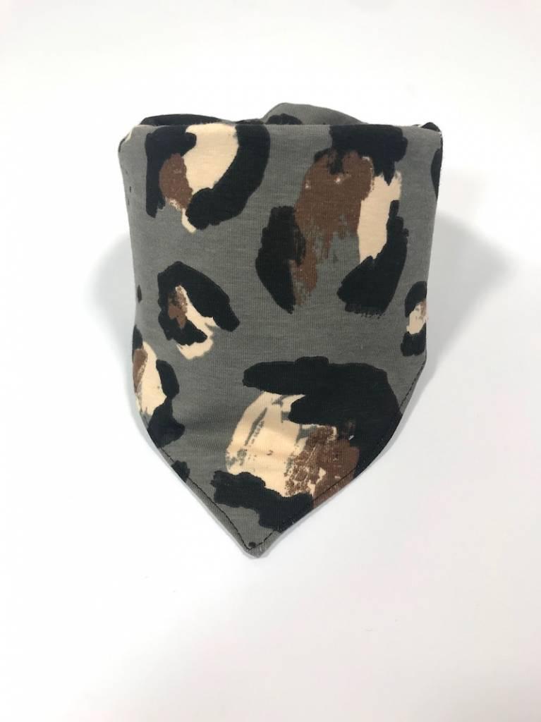 Slab bandana met grote luipaardprint