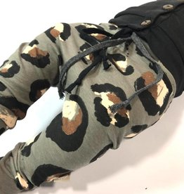 Broek - Drop crotch - Grijs - Leopard Large