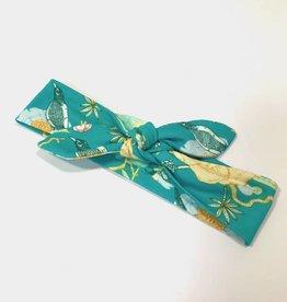 Xīn Chūn aqua blue / haarband strik