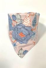 Zacht roze slab bandana met Japanse bloesem