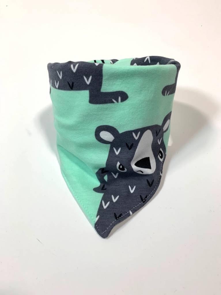 Slab bandana sjaal met beren print