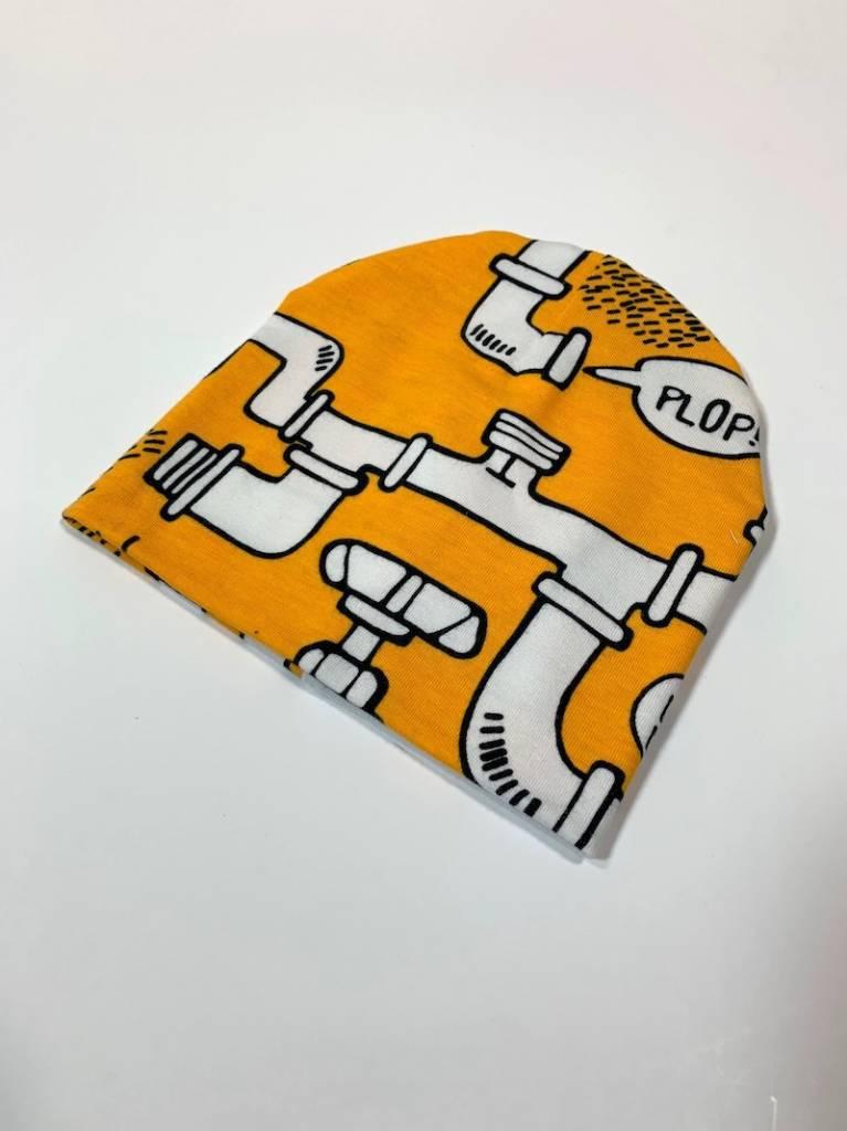Drip Drop yellow / newborn beanie / mutsje