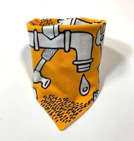 Drip Drop yellow  / slab bandana sjaal