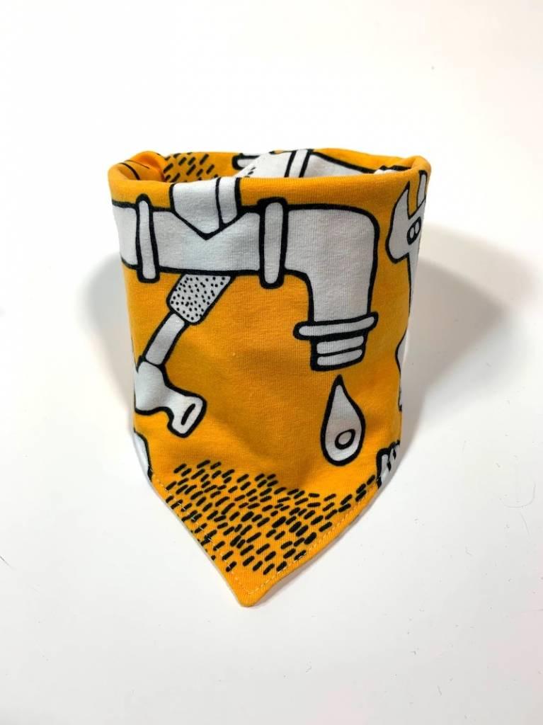 Gele slab bandana met cartoon leidingen