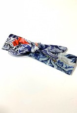 Blauw-witte haarband strik met Hollandse print