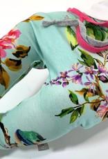 Baggy mint broekje met bloemenprint