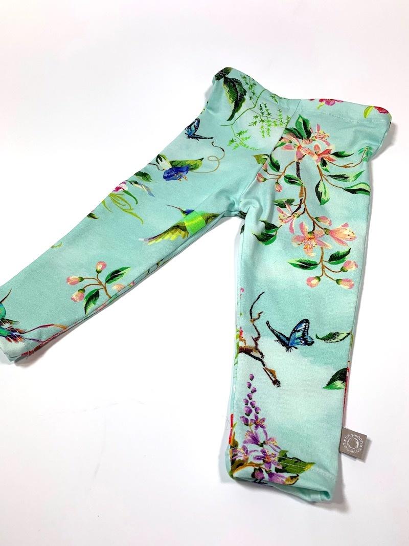 Legging in mint met oosterse bloemenprint