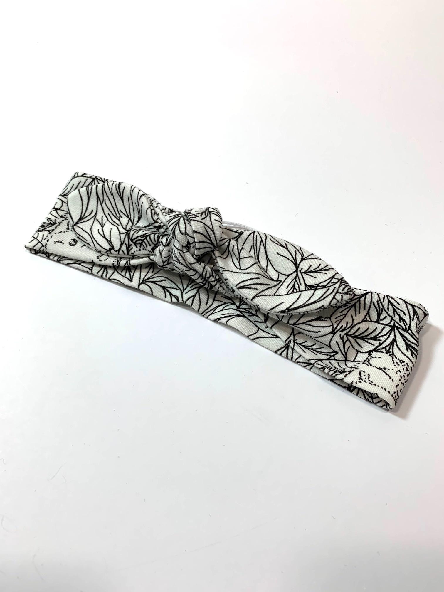 Haarband strik met UV-licht print