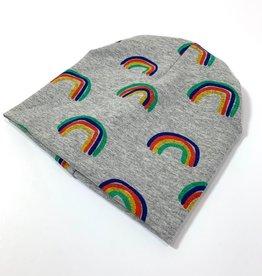 Muts - Newborn beanie - Grijs - Rocket Rainbow