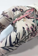 Baggy pastelroze broekje met prachtige bloemen