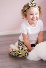 Leopard Large army / newborn beanie / mutsje