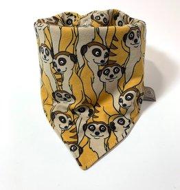 Suricata Suricatta vintage oker / slab bandana sjaal