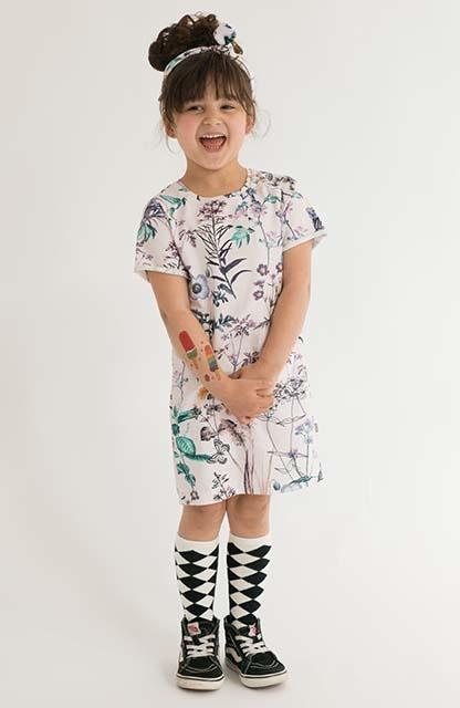 Hua Chang pink / Tee dress