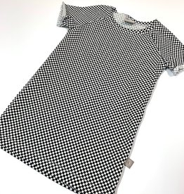 Jurk - Tee dress - Zwartwit - Checkers Mini