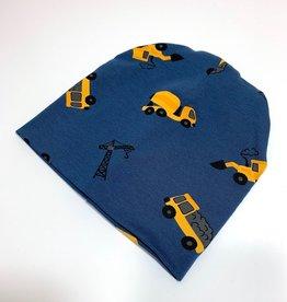 Muts - Newborn beanie - Blauw - Tiny Builders