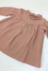 Jurk in zalm roze stof