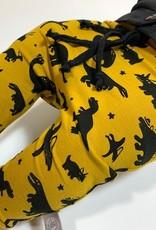 Baggy drop crotch broekje met zwarte dino's