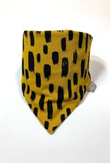 Slab bandana sjaal in oker met print