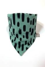 Slab bandana sjaal in Dusty Mint met print