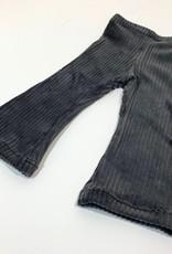 Antraciet Flared broek in brede rib
